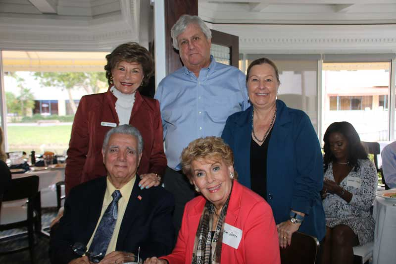 Seated Al Zuccaro, Yvonne Boice Arlene Herson, Kevin McArty, Mary McArty