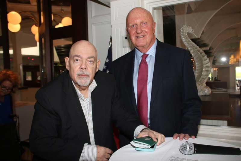 Barry Epstein, Pres. with Speaker Dennis Kozlowski